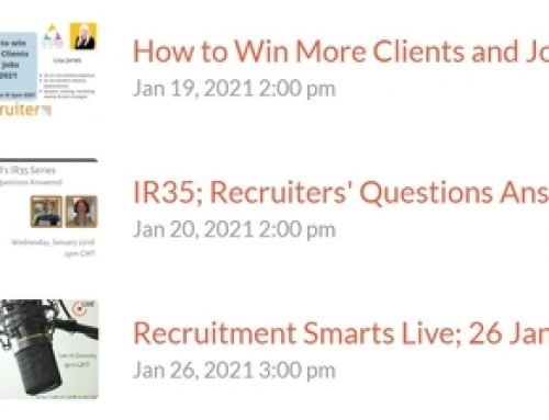 Win more clients, get your IR35 in order and keep up with Recruitment Smarts this month